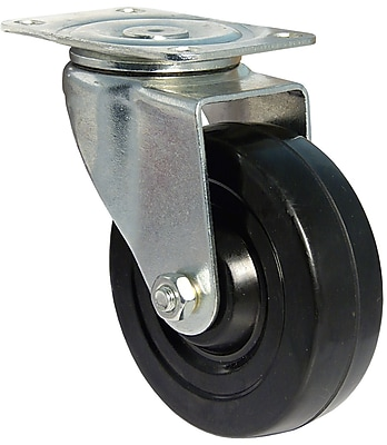 Richelieu Madico Rubber Caster 102mm, Swivel, Black (F25413)