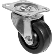 Richelieu Madico Rubber Caster Swivel 40mm, Fixed, Black (F22903)