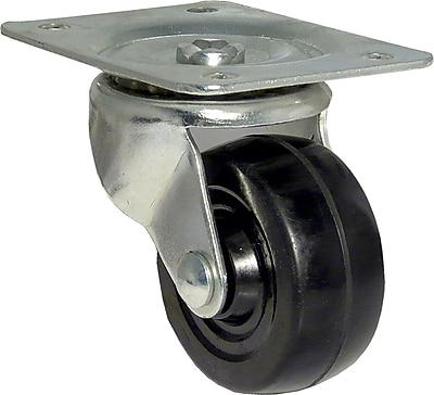 Richelieu Madico Rubber Caster 63mm, Swivel, Black (F25083)