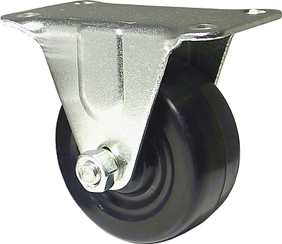 Richelieu Madico Rubber Caster Rigid, 50mm, Fixed, Black (F25748)