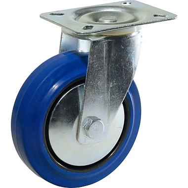 Richelieu Madico Blue Rubber Caster, 160mm, Swivel, Blue (F24789)