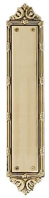 BRASS Accents Ribbon and Reed Push Plate; Polished Brass