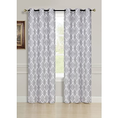 Dainty Home Avante Curtain Panels (Set of 2); Silver
