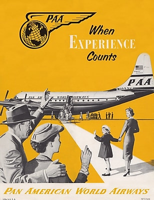 Marmont Hill 'PAA When Experience Counts Pan American Aviation' Vintage Advertisement on Canvas