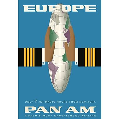 Marmont Hill 'Europe Pan American Vintage Aviation' Graphic Art Print on Wrapped Canvas