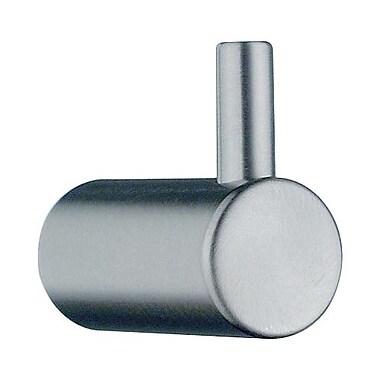 Smedbo Beslagsboden Wall Mounted Outer Single Towel Hook; Brushed Nickel