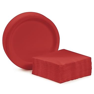 Creative Converting Dessert Tableware Entertaining Kit for 48 (Set of 98); Classic Red