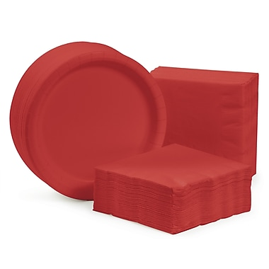 Creative Converting Dessert Tableware Entertaining Kit for 150 (Set of 300); Classic Red