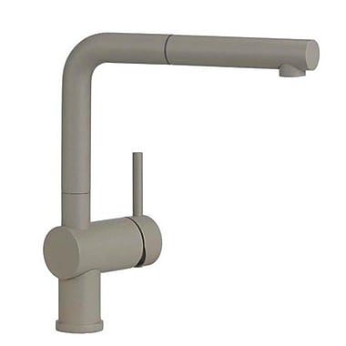 Blanco Linus Single Handle Kitchen Faucet w/ Pull Out Spray; Truffle