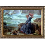 Tori Home Miranda The Tempest by John William Waterhouse Framed Painting Print