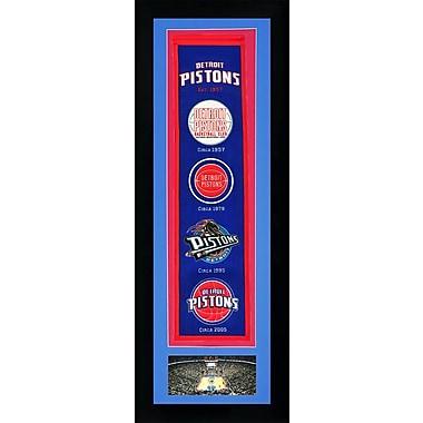 Legends Never Die NBA Framed Graphic Art; Detroit Pistons