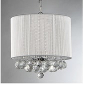 Warehouse of Tiffany Platter 3-Light Drum Chandelier