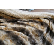 Tache Home Fashion Safari Faux Fur Throw Blanket; 63'' x 87''