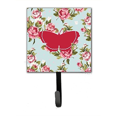 Caroline's Treasures Butterfly Roses Leash Holder and Wall Hook