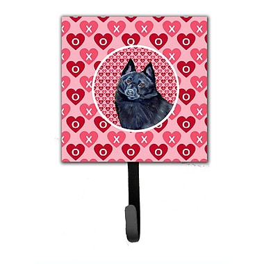 Caroline's Treasures Schipperke Valentine's Love and Hearts Leash Holder and Wall Hook
