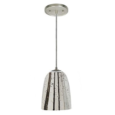 JVI Designs Grand Central 1-Light Mini Pendant; Polished Nickel