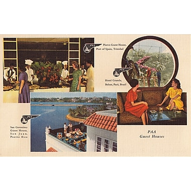 Marmont Hill PAA Postcard 1 Pan American Vintage Aviation Graphic Art on Wrapped Canvas