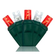 Wintergreen Lighting 70 5mm LED Christmas Lights; Red/Cool White