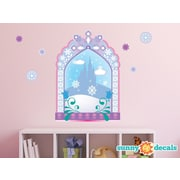 Sunny Decals Frozen Inspired Ice Castle Window Fabric Wall Decal