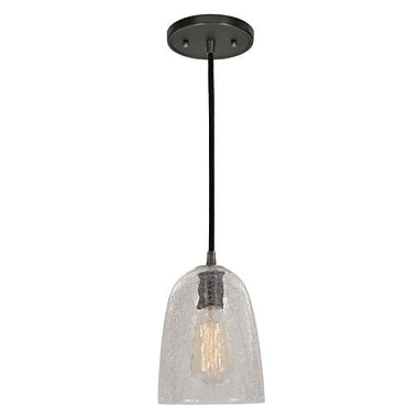 JVI Designs Grand Central 1-Light Mini Pendant; Polished Nickel