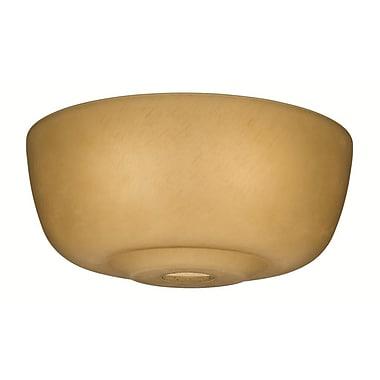 Casablanca Fan 12.6'' Glass Fan Bowl Shade; Toffee