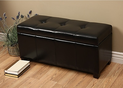 Warehouse of Tiffany Ariel Upholstered Storage Bench;