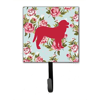 Caroline's Treasures Curly Coated Retriever Shabby Elegance Blue Roses Leash Holder and Wall Hook