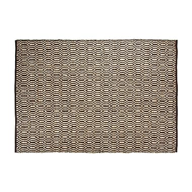 Chesapeake SunnyVale Hand-Woven Chocolate Area Rug; Rectangle 2' x 3'