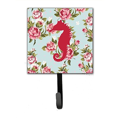 Caroline's Treasures Sea Horse Shabby Elegance Roses Wall Hook