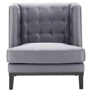 Armen Living Urbanity Slipper Chair; Silver Satin