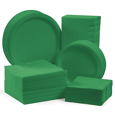 Creative Converting Tableware Entertaining Kit for 150 (Set of 600); Emerald Green