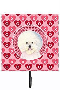 Caroline's Treasures Bichon Frise Leash Holder and Key Hook