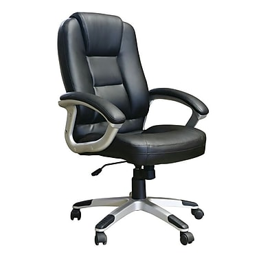 Just Cabinets Deluxe Desk Chair; Black