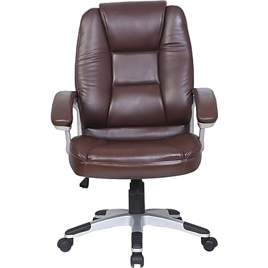 Just Cabinets Deluxe Desk Chair; Brown