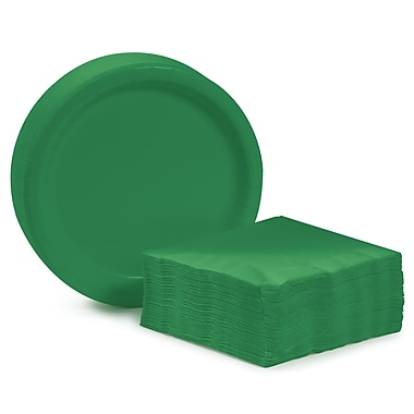 Creative Converting Dessert Tableware Entertaining Kit for 48 (Set of 98); Emerald Green