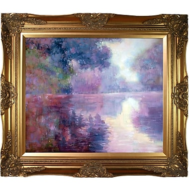 Tori Home Misty Morning on the Pink Seine by Claude Monet Framed Painting Print