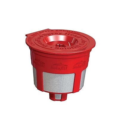 Solofill K2 Refillable Coffee Filter; Red WYF078278151446