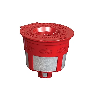 Solofill K2 Refillable Coffee Filter; Red