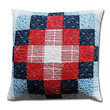 Greenland Home Fashions Boardwalk Decorative Cotton Shell Throw Pillow