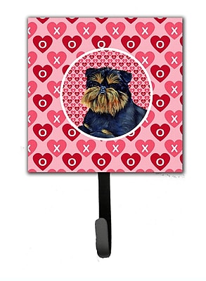 Caroline's Treasures Brussels Griffon Valentine's Love and Hearts Leash Holder and Wall Hook