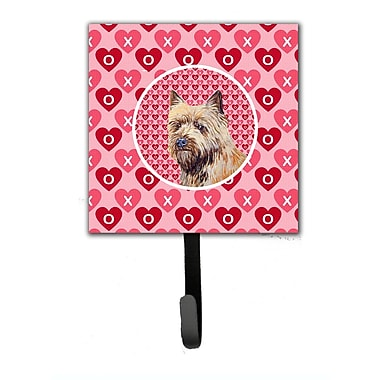 Caroline's Treasures Cairn Terrier Valentine's Love and Hearts Leash Holder and Wall Hook