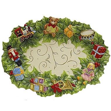 Kaldun & Bogle Toyland Christmas Platter Accent