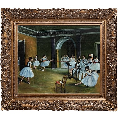 Tori Home Dance Studio at the Opera by Edgar Degas Framed Painting