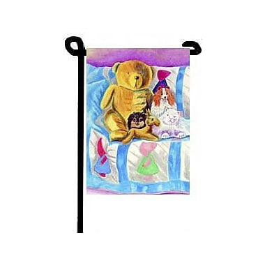 Caroline's Treasures Party Poms on The Couch Pomeranian 2-Sided Garden Flag