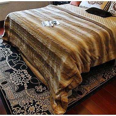 Tache Home Fashion Threshold Faux Fur Throw Blanket; 50'' x 60''