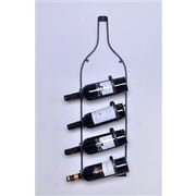 Welland Industries LLC 4 Bottle Wall Mounted Wine Rack