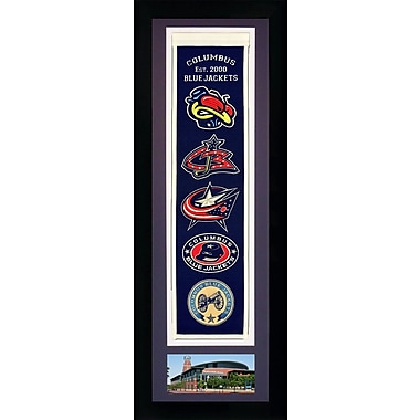 Legends Never Die Framed Graphic Art; Columbus Blue Jackets