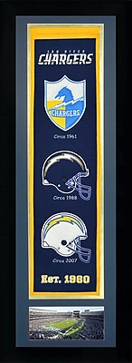 Legends Never Die Framed Graphic Art; San Diego Chargers