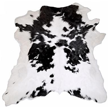 Trophy Room Stuff Designer Cowhides Black and White Calf Skin Area Rug