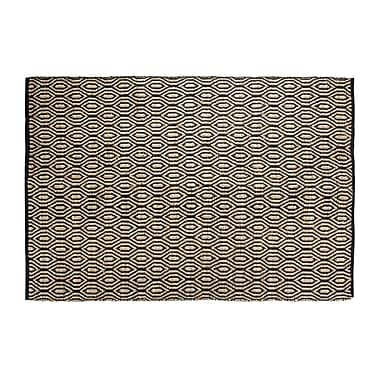 Chesapeake SunnyVale Hand-Woven Black Area Rug; Rectangle 5' x 7'